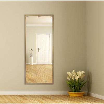 59.125 in. x 21.125 in. Tuscan Linen Amber Metal Framed Tall Mirror