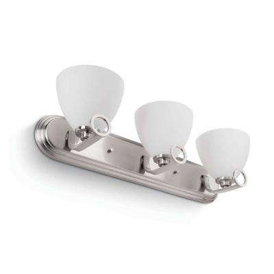 Maurice 3-Light Brushed Nickel Sconce