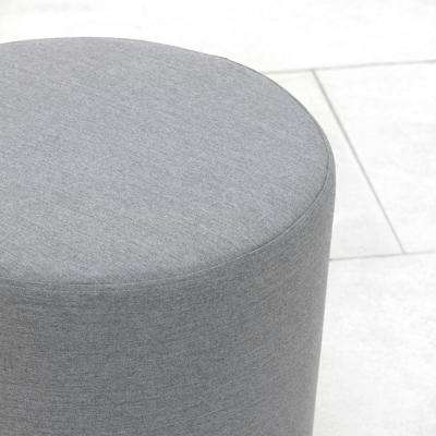Saturn Grey Aluminum Outdoor Ottoman