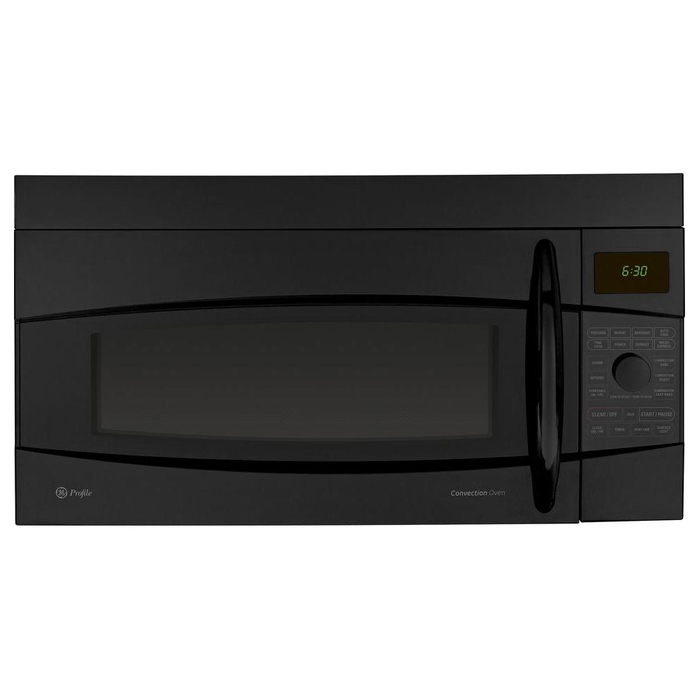 GE Profile 1.7 cu. ft. Over-the-Range Convection Microwave in Black-DISCONTINUED
