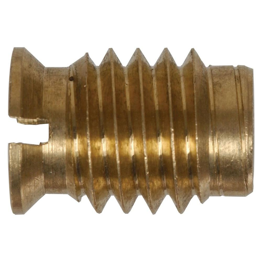 Hillman 6 32 Coarse Brass Wood Insert Nuts 880546 The