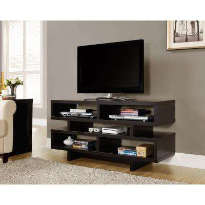 Hollow Core Cappuccino Shelved Entertainment Center