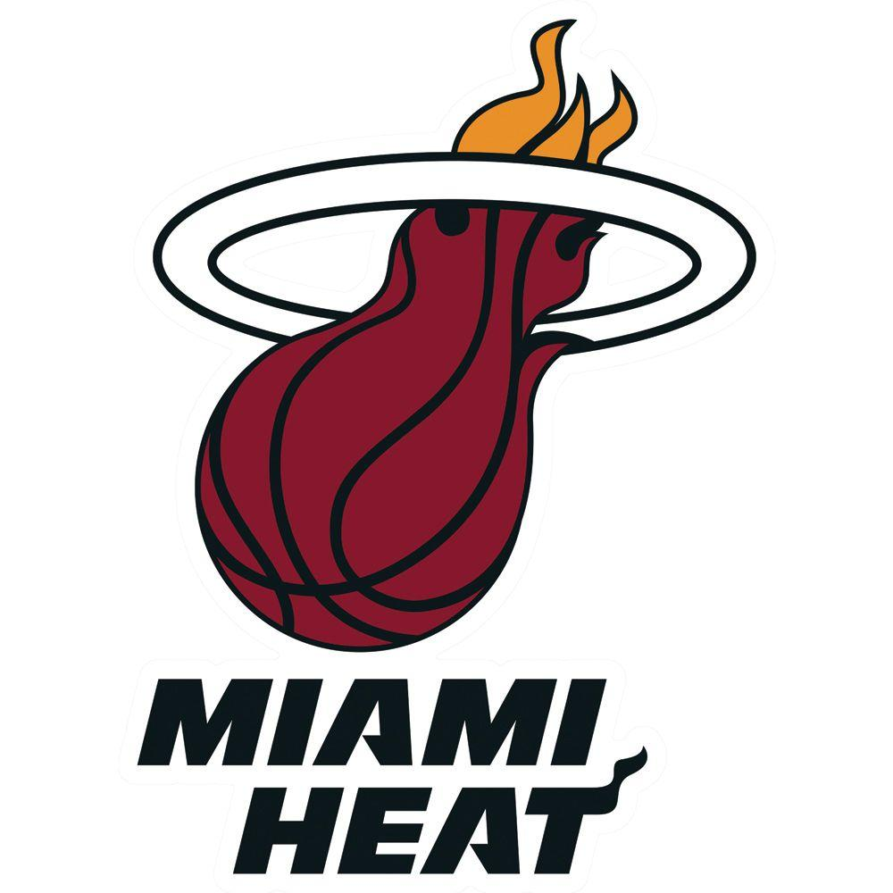 Fathead 29 in. x 40 in. Miami Heat Logo Wall Decal