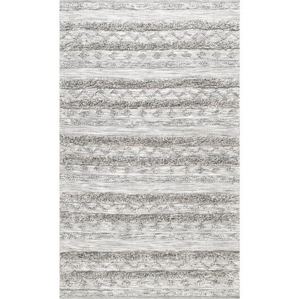 Josiah High Low Tribal Gray 9 ft. x 12 ft. Area Rug