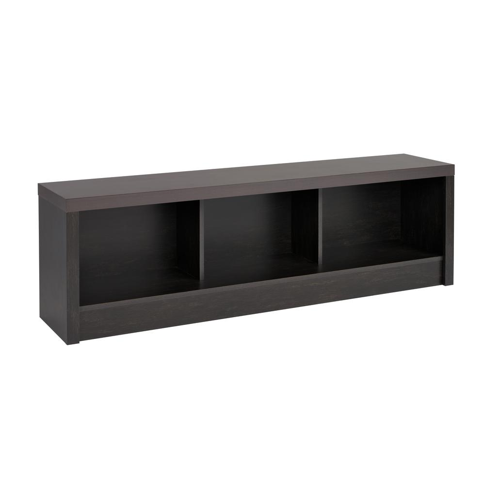 District Washed Black Storage Bench