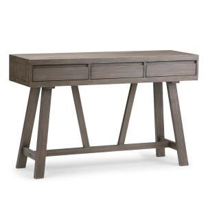 Dylan Solid Wood 48 in. Wide Modern Industrial Modern Industrial Hallway Console Table in Driftwood
