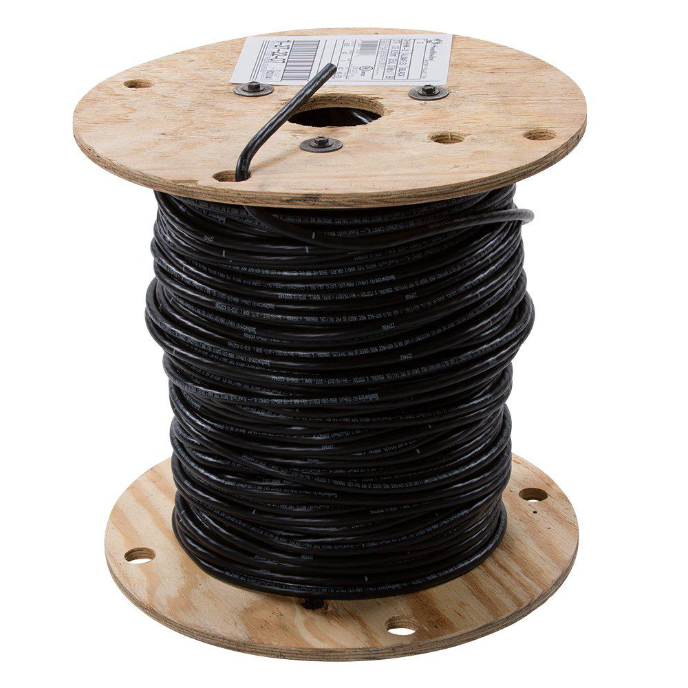 southwire 500 ft 2 black stranded al xhhw wire 11272207 the home