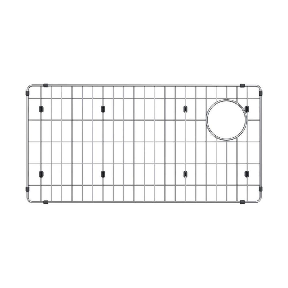 Crosstown 28.25 in. x 14.25 in. Bottom Grid in Stainless Steel