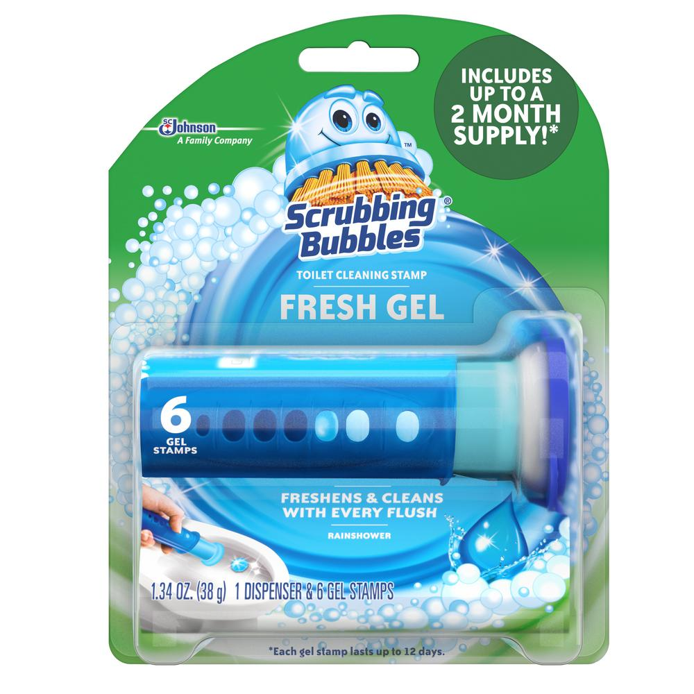 Scrubbing Bubbles 1.34 oz. Toilet Cleaning Gel, Rainshower (6-Pack)