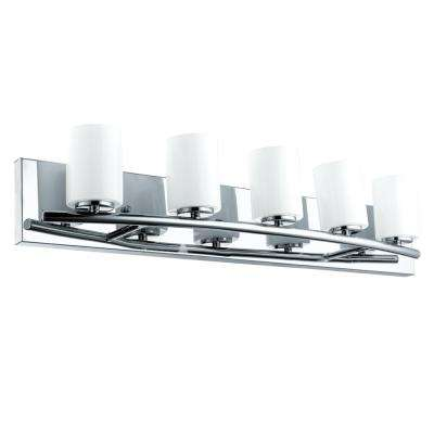 Abete 5-Light Chrome Bath Light