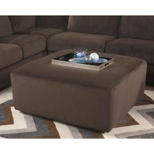 Flash Furniture Signature Design By Ashley Jessa Place Chocolate Fabric  Oversized Ottoman
