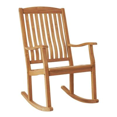 Heaton Natural Teak Outdoor Rocking Chair