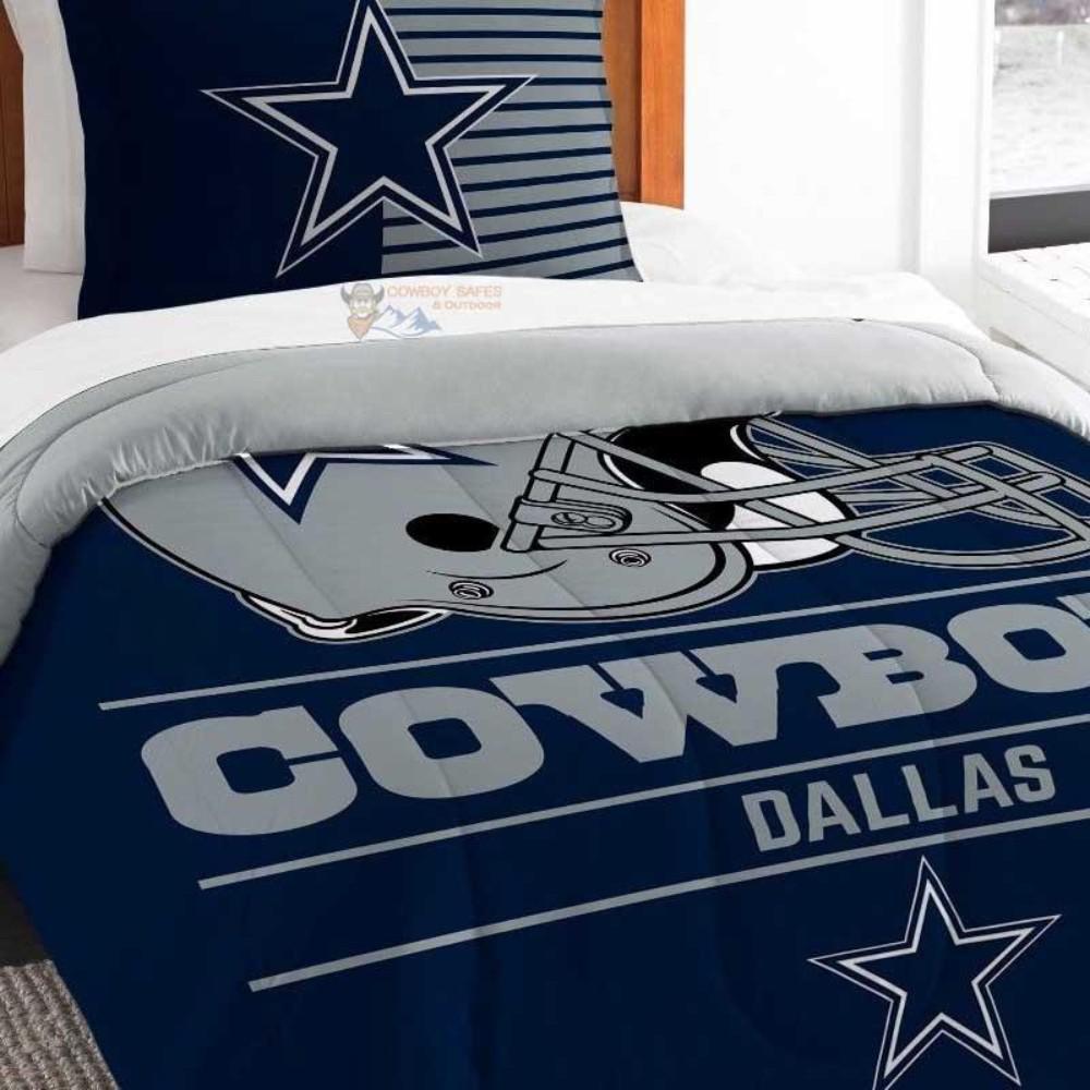 5 Piece Set Navy Blue Cowboy Western Star Design Quilt BedSpread