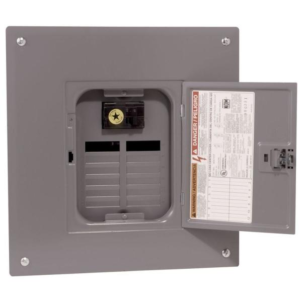QO 100 Amp 12-Space 24-Circuit Indoor Main Breaker Plug-On Neutral Load Center with Cover