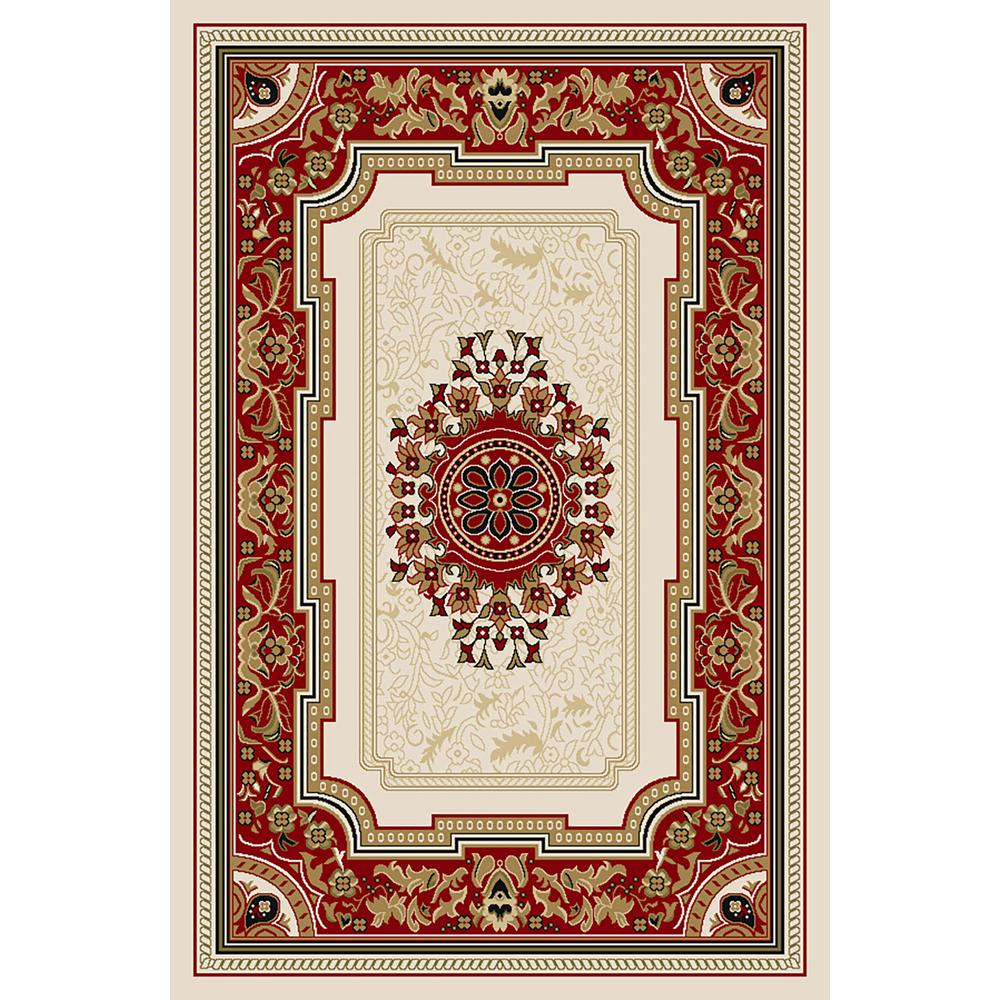 Ephes Collection Ivory 8 ft. x 10 ft. Area Rug