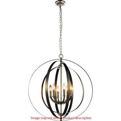 Delroy 6-light chrome chandelier