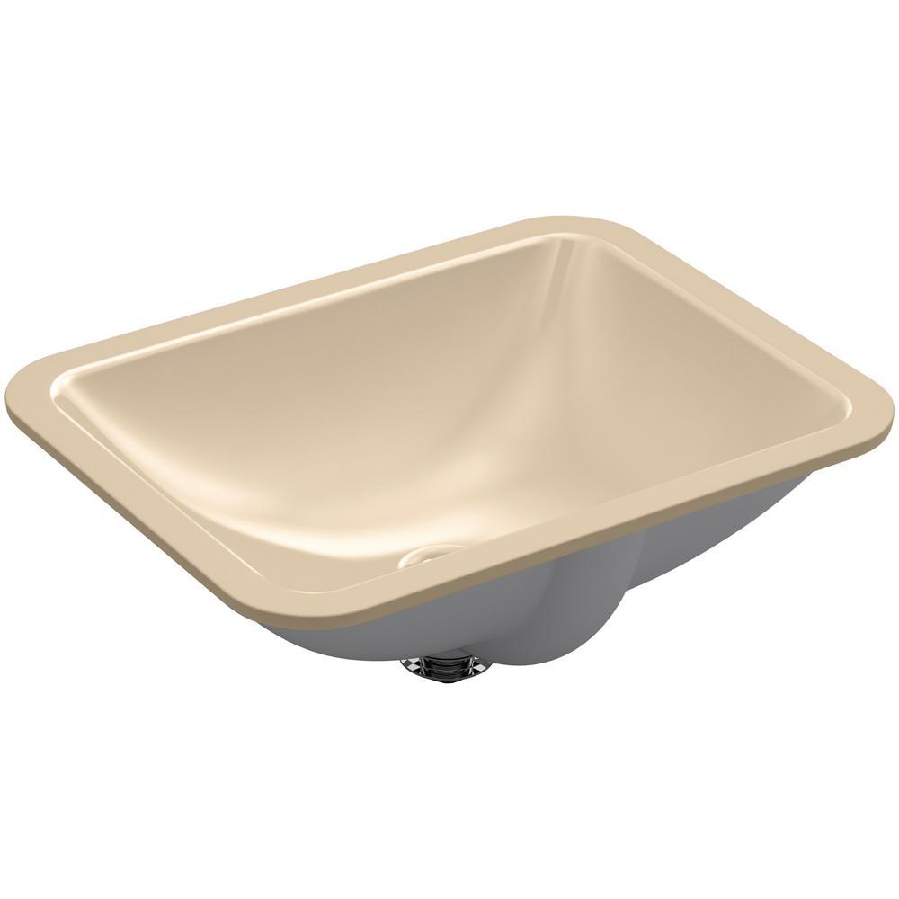 Caxton Rectangle Undermount Bathroom Sink in Mexican Sand