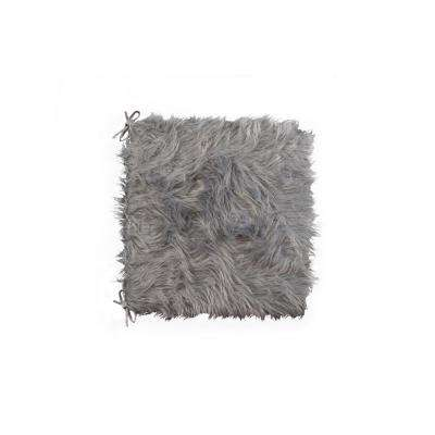 Laredo Gray Faux Sheepskin Fur Chair Pad (Set of 2)