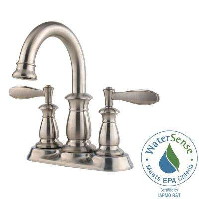 Langston 4 in. Centerset 2-Handle Bathroom Faucet in Brushed Nickel