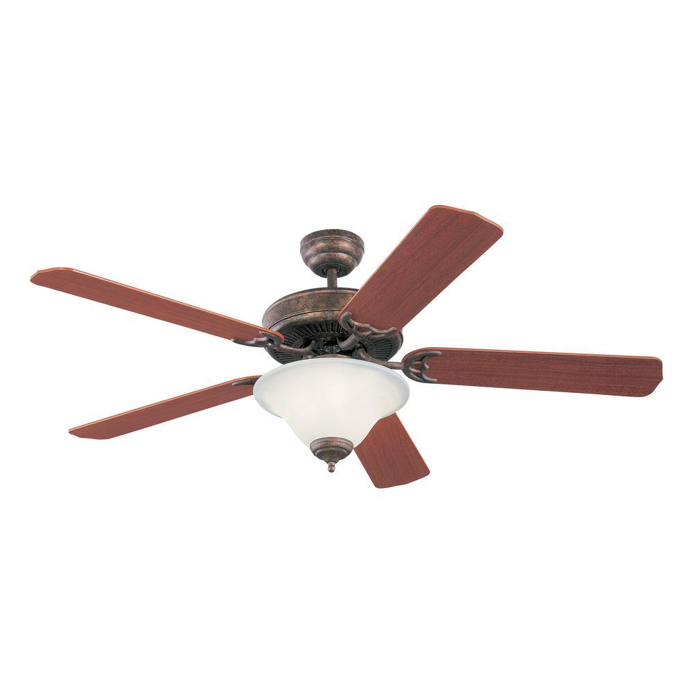 Homeowners Deluxe 52 in. Indoor Tuscan Bronze Ceiling Fan