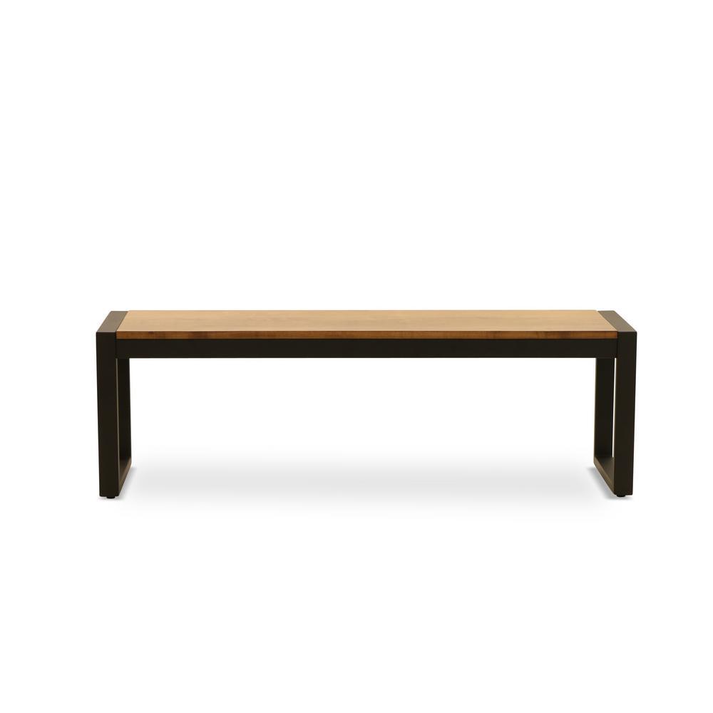 Phenomenal Homesullivan Two Tone Oak And Antique Black Dining Bench Ibusinesslaw Wood Chair Design Ideas Ibusinesslaworg