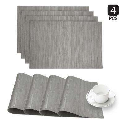 Forest Silver Faux Leather Placemat (Set of 4)