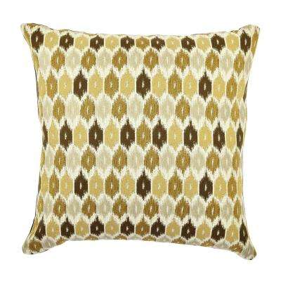Neutral Tones Ogee Designer Throw Pillow