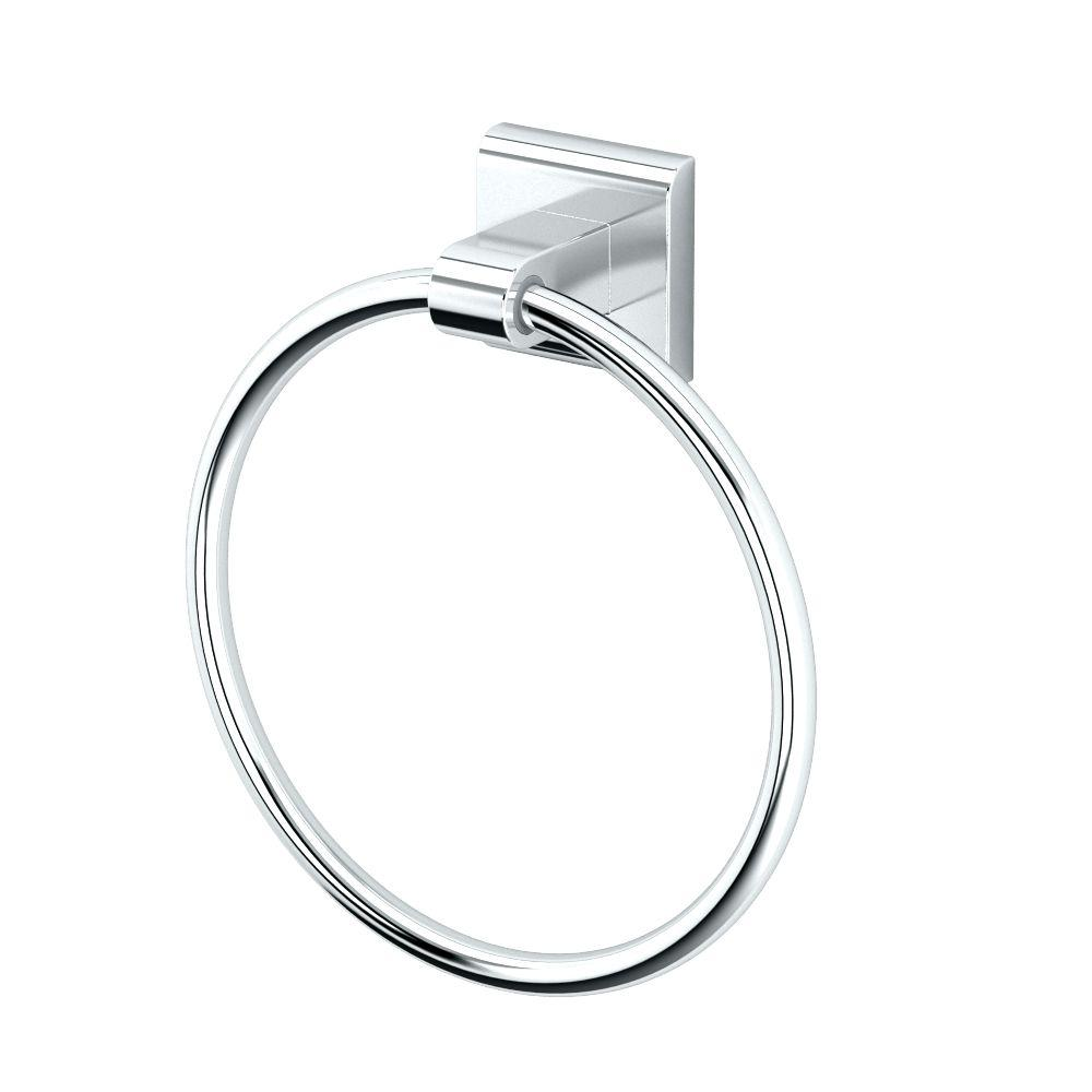 Tru Towel Ring in Chrome