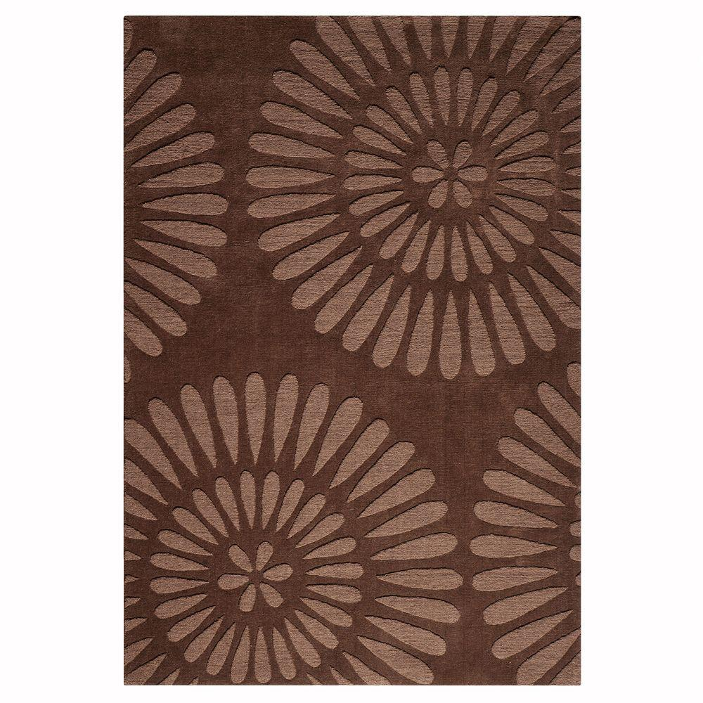 Home Decorators Collection Greco Chocolate 5 ft. 3 in. x 8 ft. 3 in. Area Rug