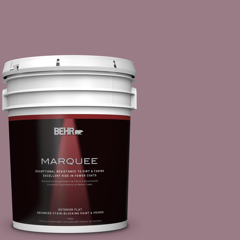 5 gal. #T15-19 Mulberry Wine Flat Exterior Paint
