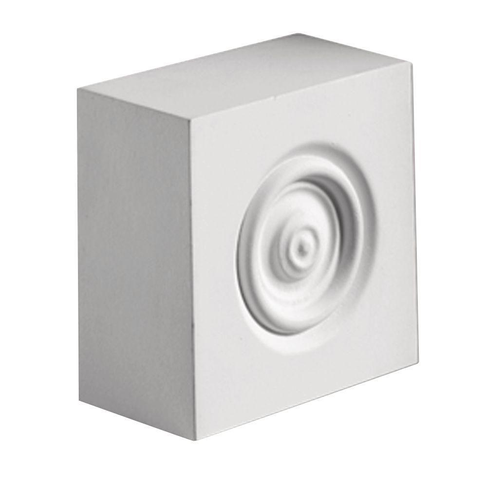 Fypon 5-1/2 in. x 5-1/2 in. x 2 in. Polyurethane Plinth Block Rosette