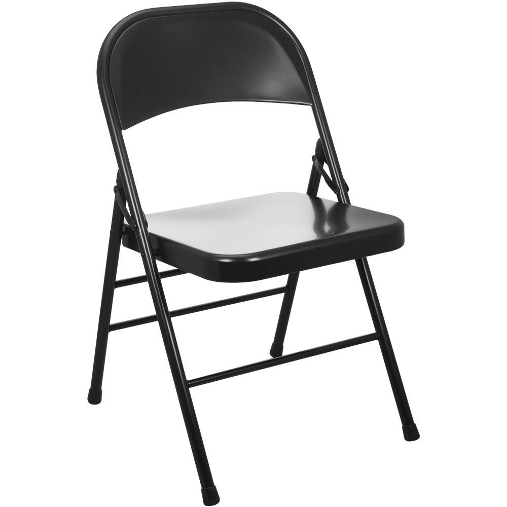 Advantage Black Metal Folding Chair (20-Pack)