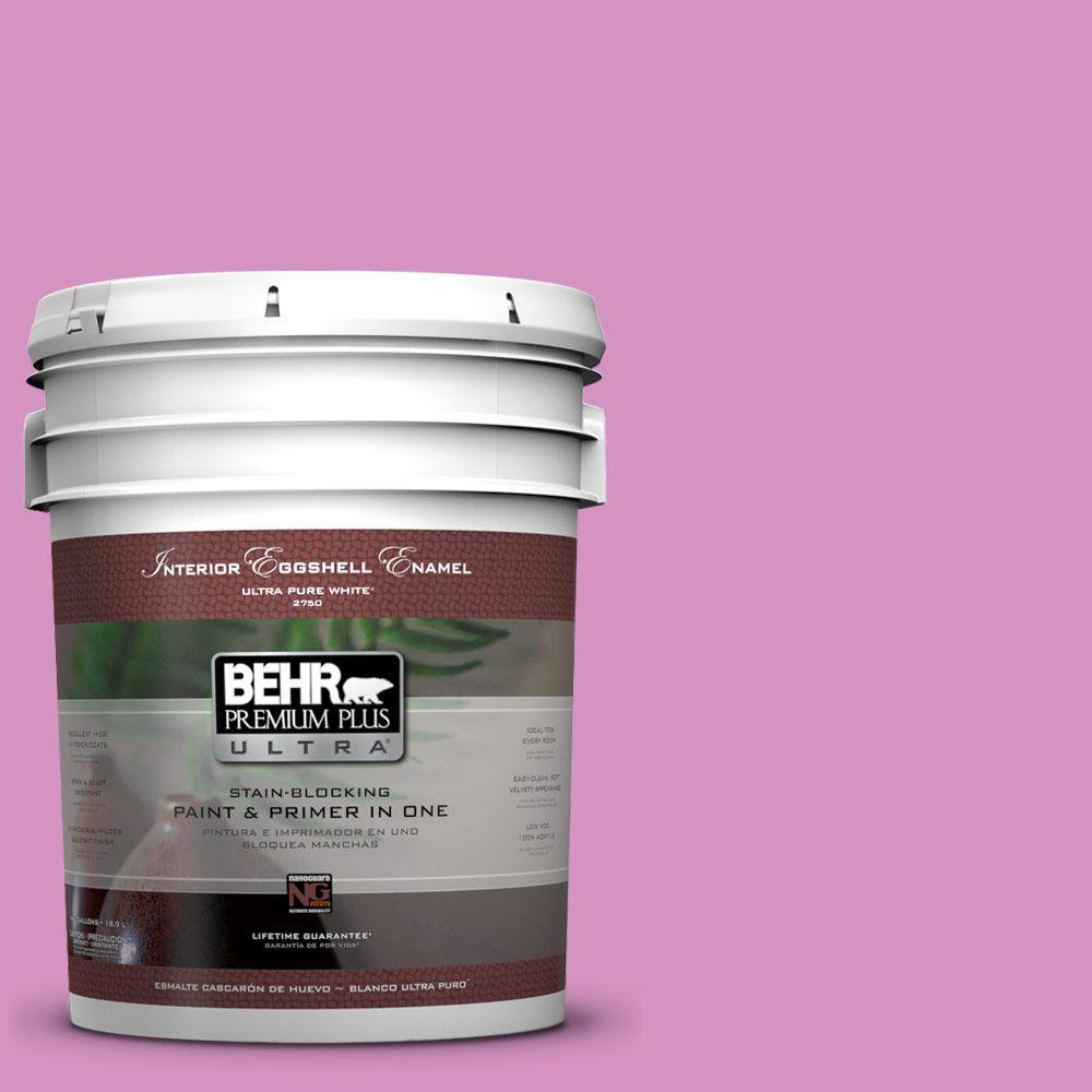 BEHR Premium Plus Ultra 5-gal. #680B-4 Pressed Flower Eggshell Enamel Interior Paint