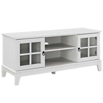 Isle 47 in. White TV Stand