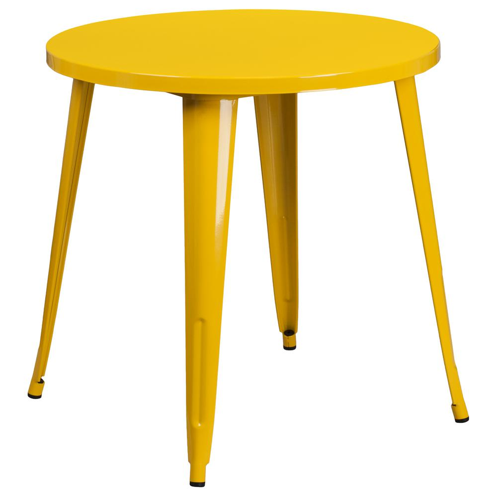 Flash Furniture Yellow Round Metal Outdoor Bistro Table