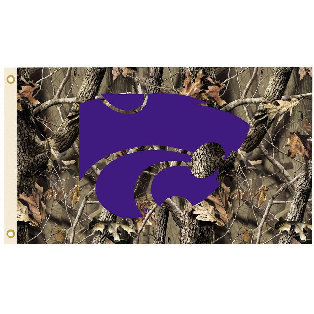 NCAA 3 ft. x 5 ft. Realtree Camo Background Kansas State