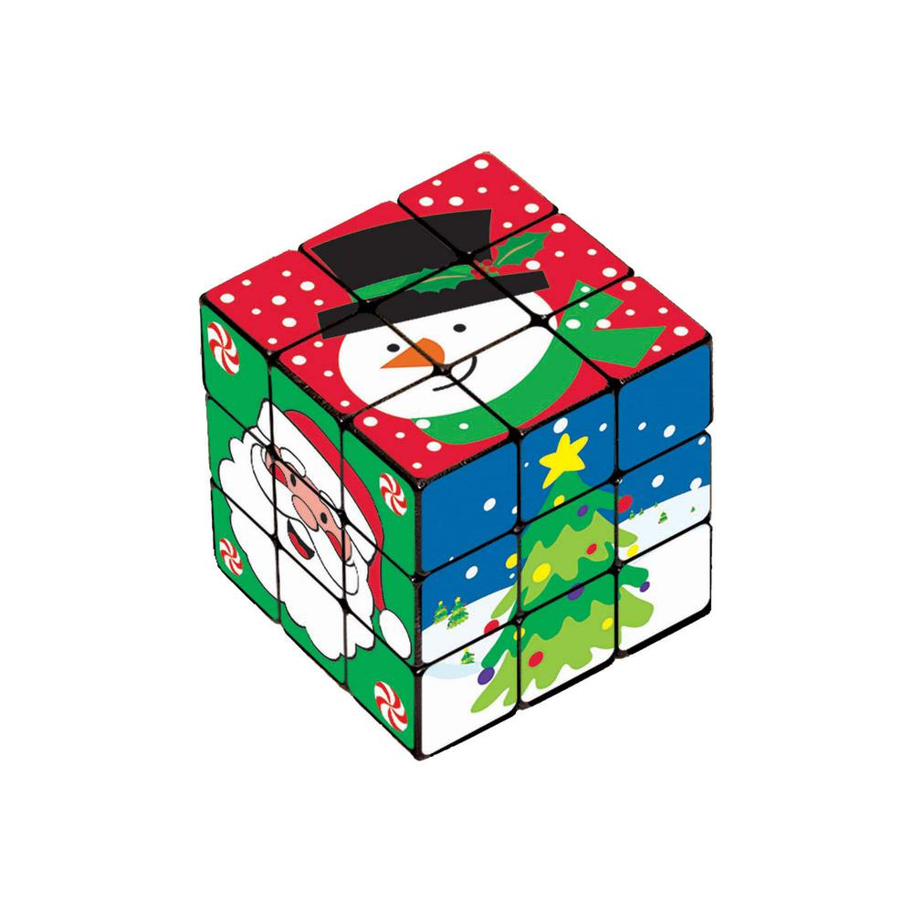 Amscan Christmas Puzzle Cube 6 Count 4 Pack 395282 The