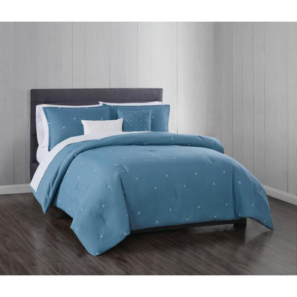 Geometric Lattice Pattern Microfiber Duvet Cover Bed Set with 2 Pillow Shams US
