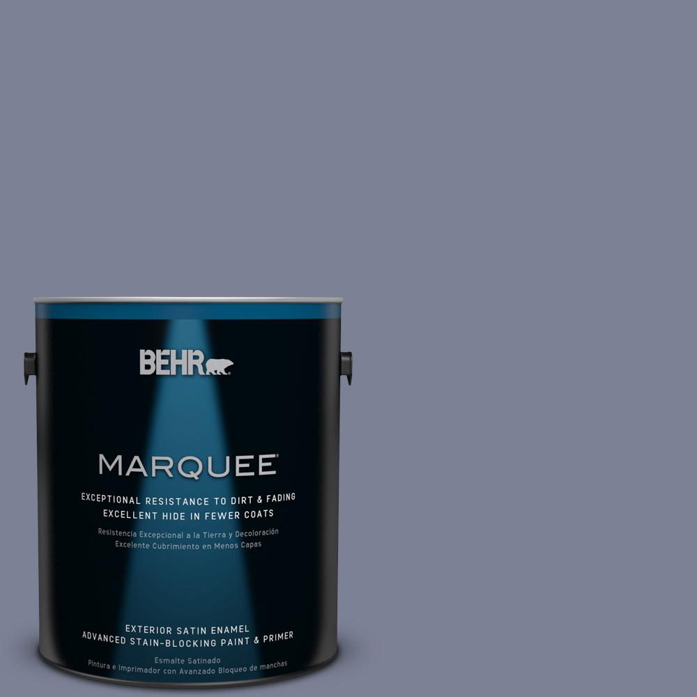BEHR MARQUEE 1-gal. #610F-6 Deep Smoke Signal Satin Enamel Exterior Paint