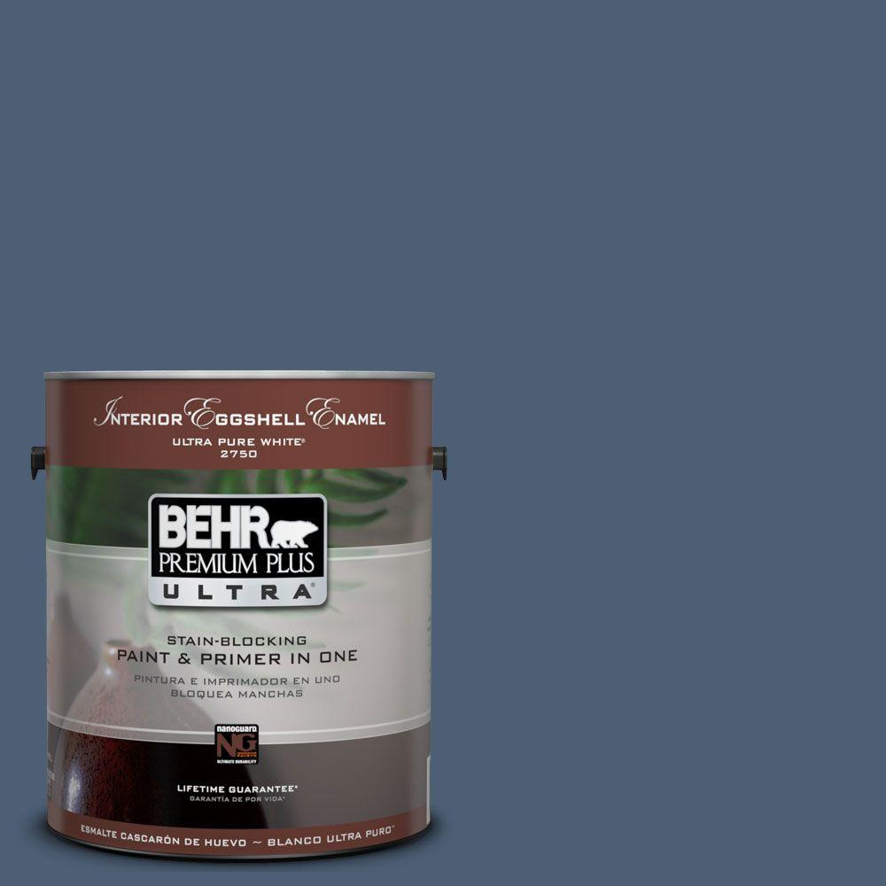 BEHR Premium Plus Ultra 1-Gal. #UL230-2 English Channel Interior Eggshell Enamel Paint