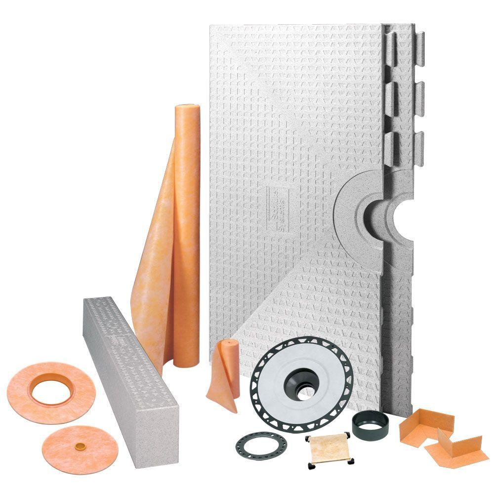 Schluter Kerdi 48 in. x 48 in. ABS Tileable Support Covering Shower Kit