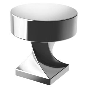 Everly 1-1/8 in. (28 mm) Polished Chrome Round Cabinet Knob