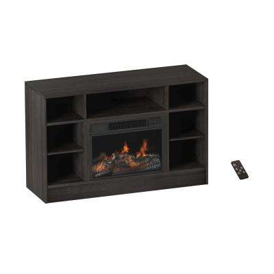 47 in. Freestanding Electric Fireplace TV Stand Console in Woodgrain Gray
