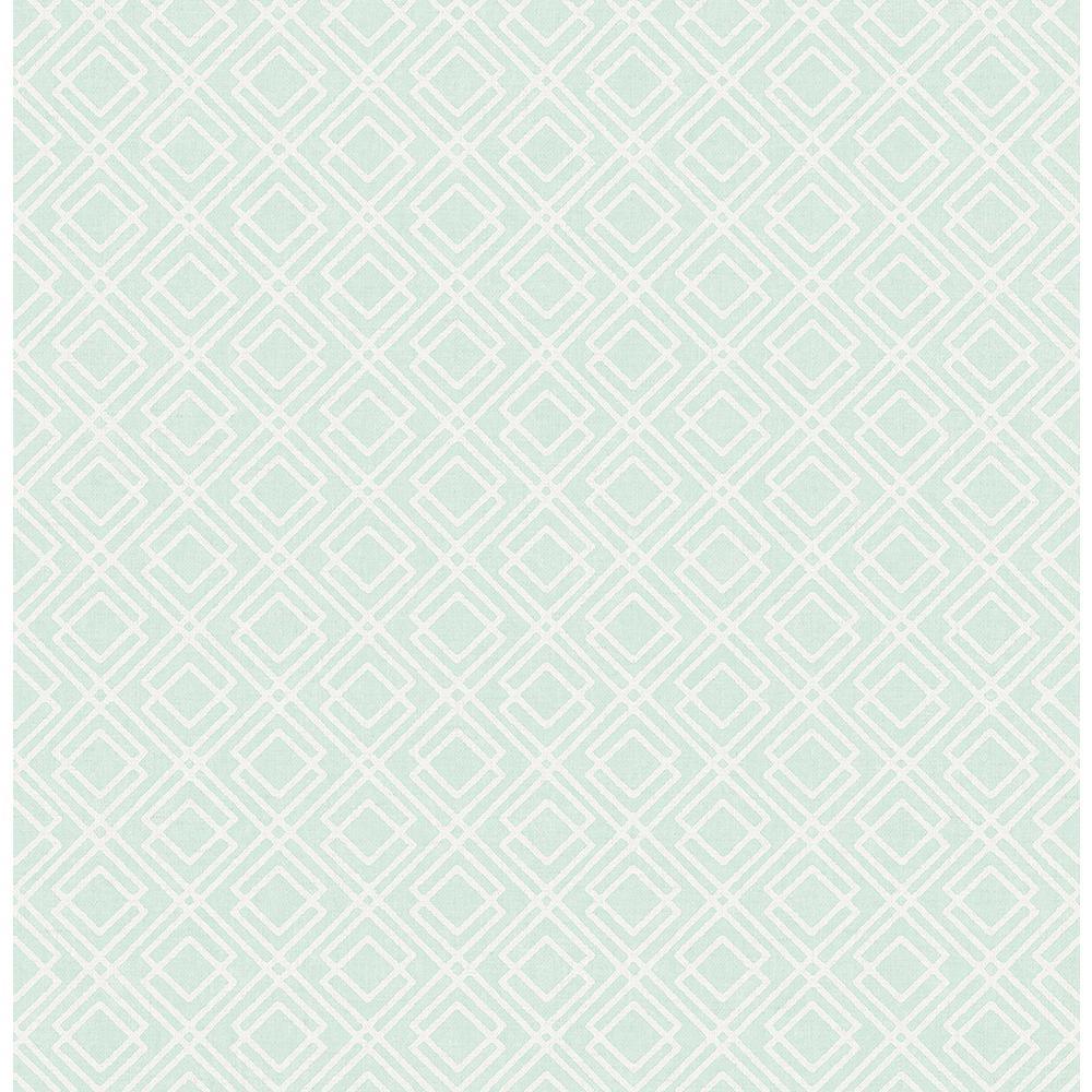 Napa Mint Geometric Mint Wallpaper Sample