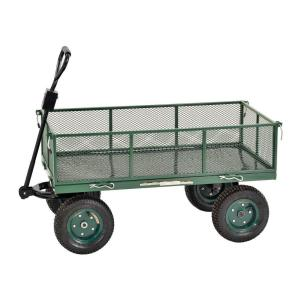 Muscle Rack 5 cu. ft. 24 in. W Mesh Wire Utility Cart 800 lb