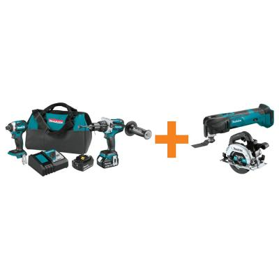 18-Volt LXT Brushless 2-Piece Combo Kit w/Bonus 18-Volt LXT Brushless 6-1/2 in. Circular Saw and 18-Volt LXT Multi-Tool