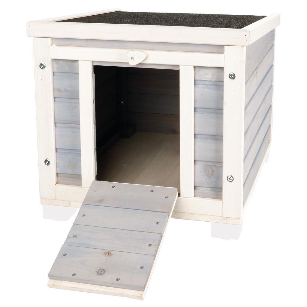 TRIXIE 16.5 in. x 15.75 in. x 20 in. Wooden Patio Condo for Cats