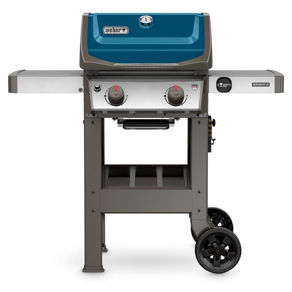 weber spirit ii e 210 2 burner propane gas grill in sapphire 44020001 the home depot. Black Bedroom Furniture Sets. Home Design Ideas