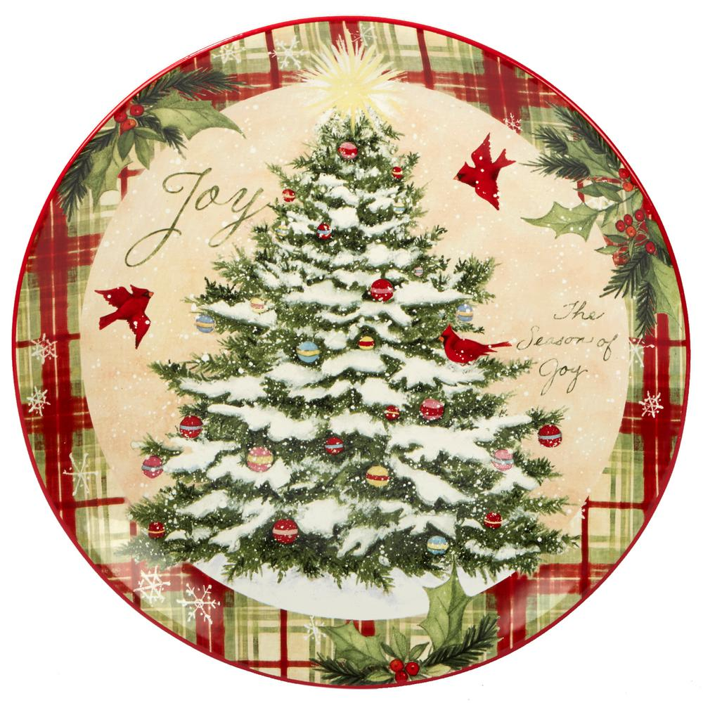 Holiday Wishes by Susan Winget 13 in. Round Platter