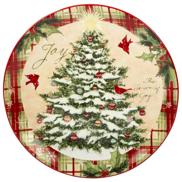 Certified International Holiday Wishes by Susan Winget 13 in. Round Platter